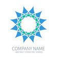 abstract symmetry circle logo harmony polygon vector image vector image