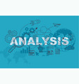analysis website banner concept vector image vector image