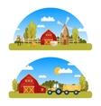 arcuate farm panorams vector image vector image