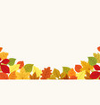 autumn leaves branch border vector image
