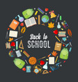 back to school template vector image vector image