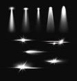 bright spotlights beams flash and light effect vector image
