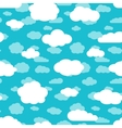 Bright turquoise blue sky and white clouds vector image vector image
