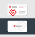 business card for the valentines day vector image vector image