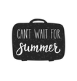 Cant wait for Summer lettering typography vector image