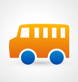 car bus icon vector image vector image