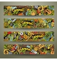 Cartoon hand-drawn camp doodle banners vector image vector image