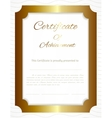 certificate background vector image vector image