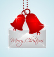christmas bells in envelope vector image vector image