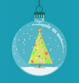 christmas tree toy stock flat vector image