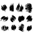 collection brush hand drawn graphic element vector image vector image