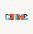 crime concept stamped word art vector image vector image