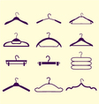 fashion hanger collection vector image