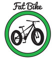 fat bike mountain bicycle sport vector image vector image
