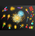 Firework crackers pyrotechnic dark background