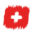 flag switzerland vector image vector image