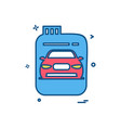 fuel can gas can car icon design vector image