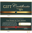 Gift certificate vector image vector image