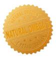 golden natural omega 3 medal stamp vector image vector image