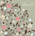 Gray floral card vector | Price: 1 Credit (USD $1)