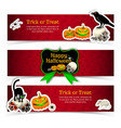 halloween horizontal banners set vector image vector image