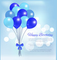 happy birthday balloons party decorations poster vector image vector image