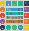 Heartbeat icon sign Set of twenty colored flat vector image