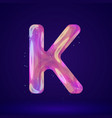 holographic letter vector image vector image