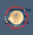 human space flight vector image