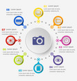 infographic template with photography icons vector image vector image