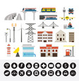 infrastructure and transportation objects and vector image