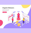 landing page template organic followers vector image vector image