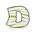 Letter D Mummy Typography icon in bandages vector image vector image