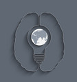 light bulb with a world globe vector image vector image