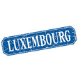 Luxembourg blue square grunge retro style sign vector image vector image