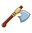 medieval ax weapon icon cartoon style vector image