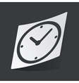 Monochrome clock sticker vector image vector image