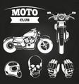 moto club motorcycle helmet vector image vector image