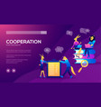 occupation plan workplace for team cooperation vector image vector image