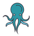 octopus flat line concept vector image