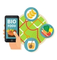 Online bio products search vector image