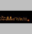 oslo light streak skyline vector image