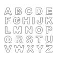 Outline Bold Vintage Retro Font vector image vector image