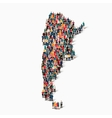 people map country argentina vector image