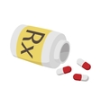 Prescription pills icon cartoon style vector image vector image