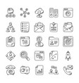 project management doodle icons vector image vector image