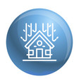 protected house roof icon outline style vector image vector image