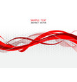 red and gray wave abstract vector image vector image