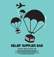 Relief Supplies Bag With Parachutes vector image vector image