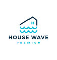 river house home water wave mortgage logo icon vector image vector image